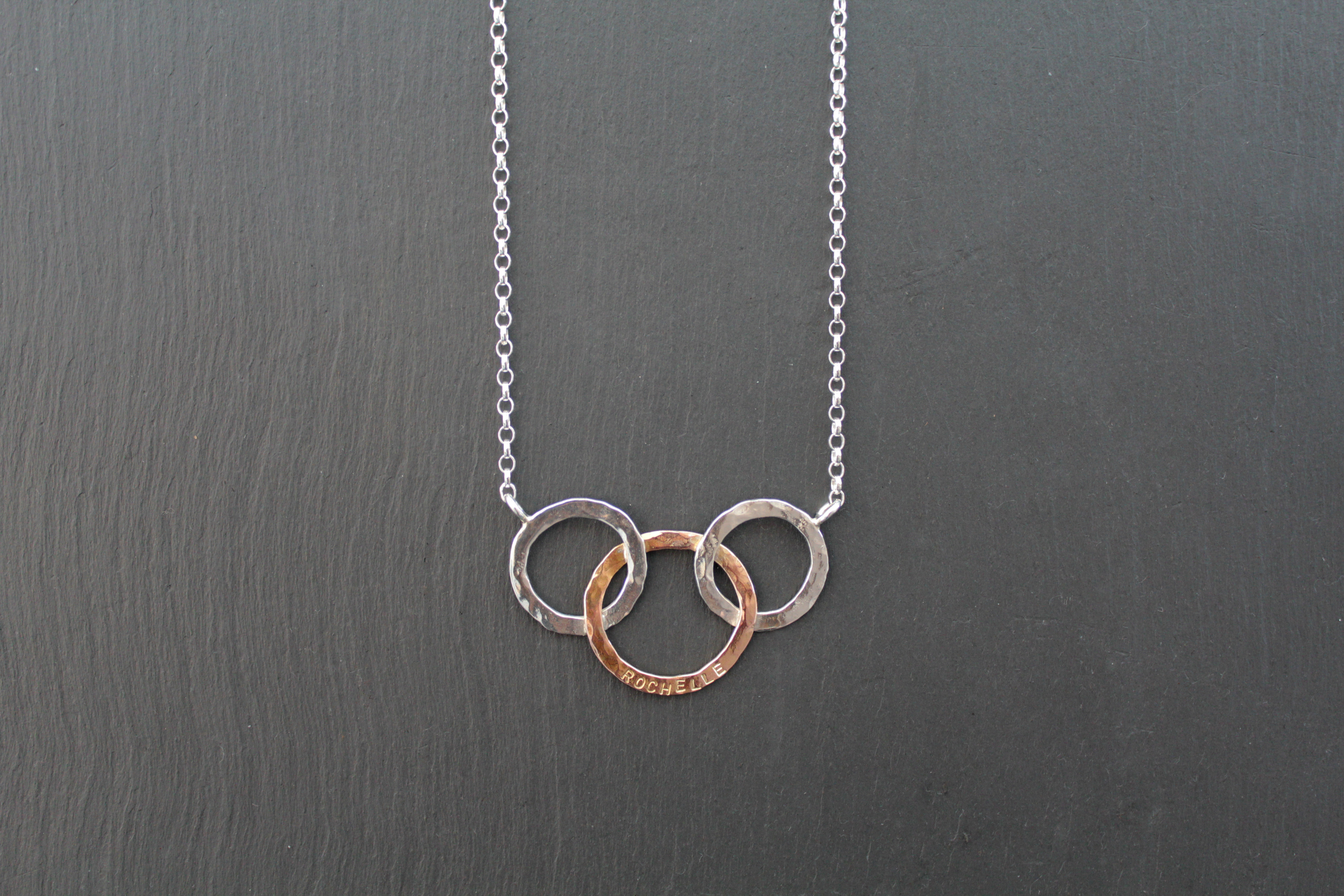 9ct Rose Gold and Silver Necklace