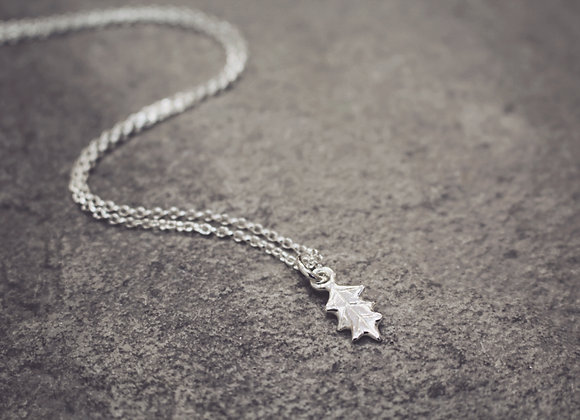 Mini Holly Leaf Necklace
