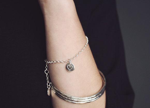 Heart Pebble Chain Bracelet