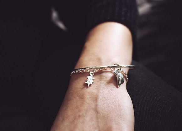 Mini Holly Leaf Chain Bracelet