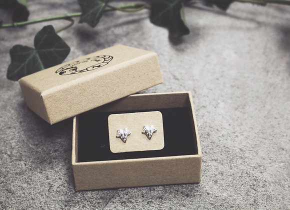 Mini Ivy Leaf Stud Earrings