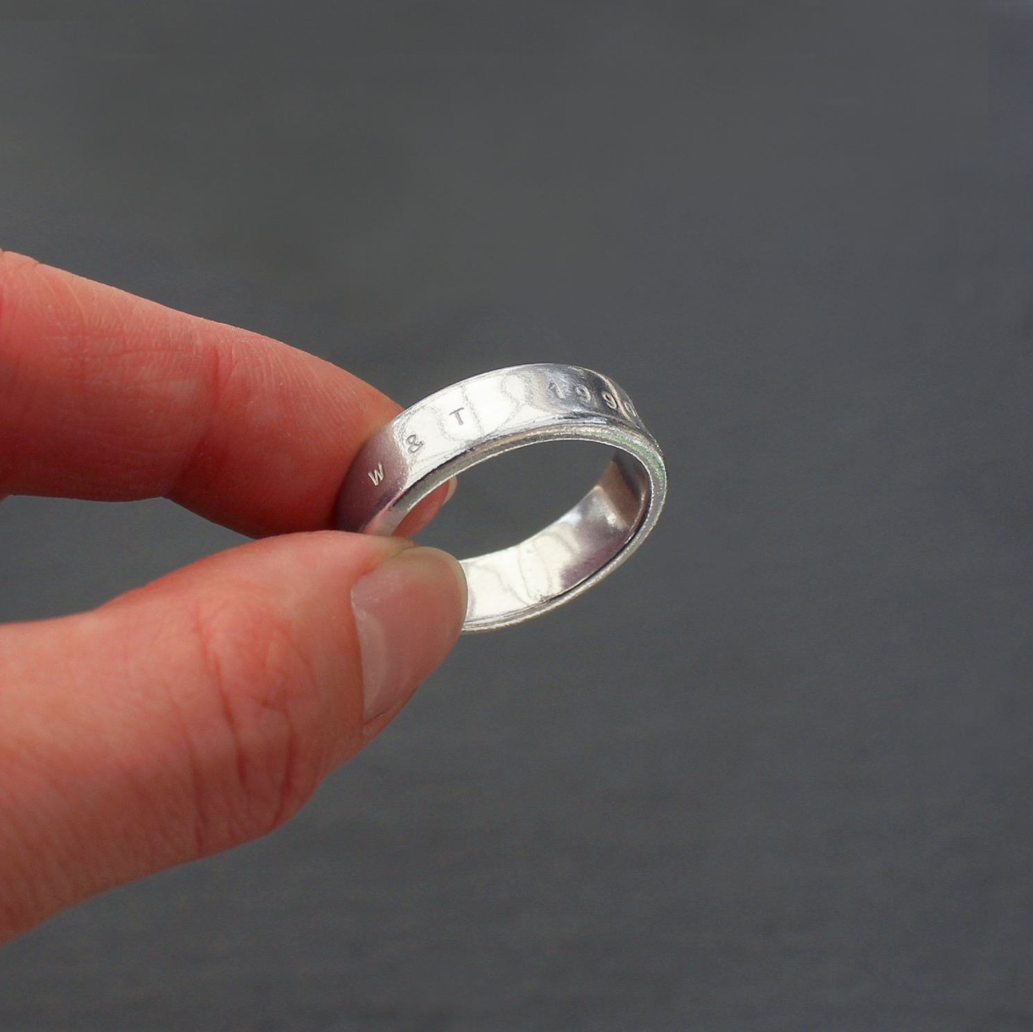 Chunky Personalised Wedding Band