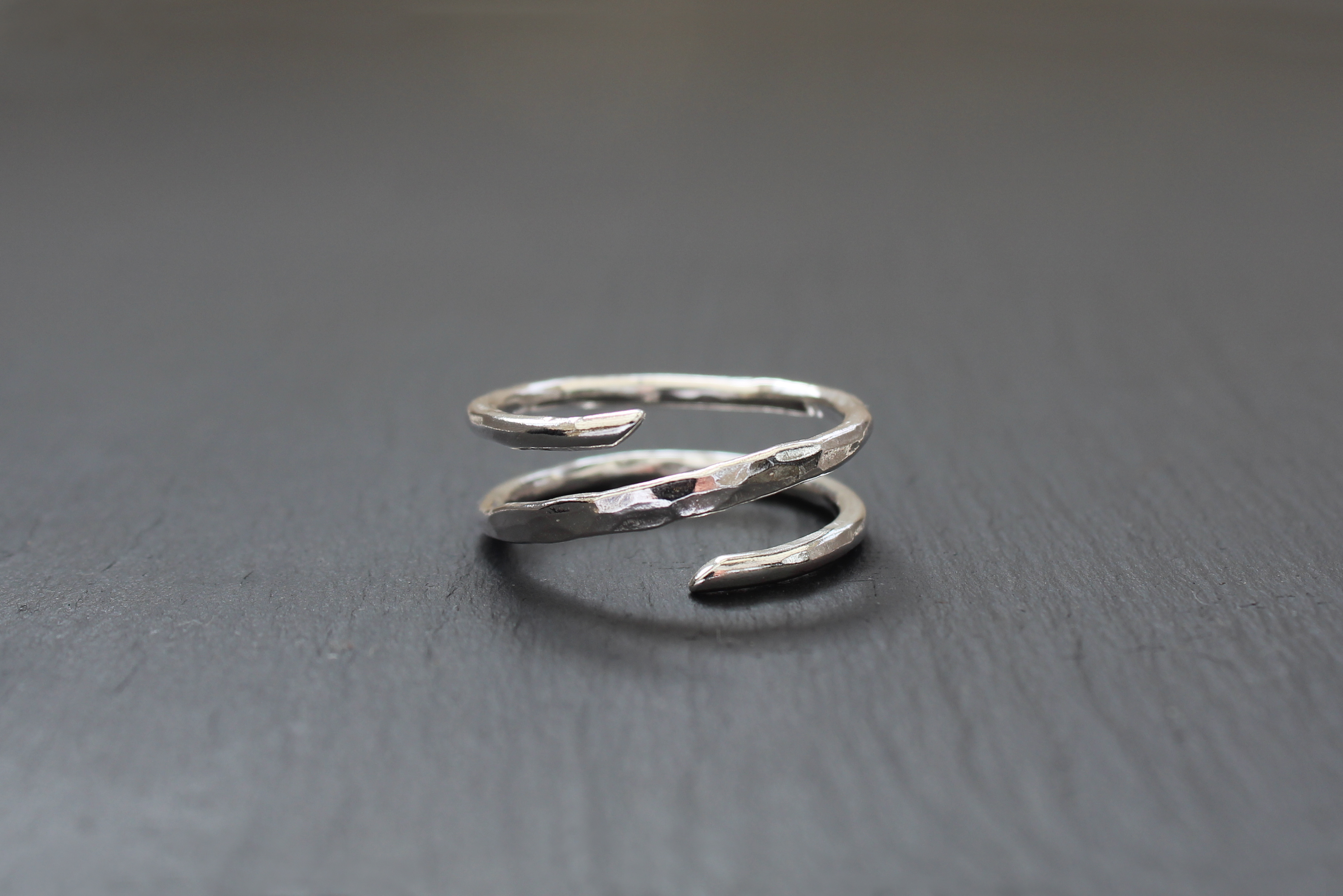 Hammered Crossover Ring