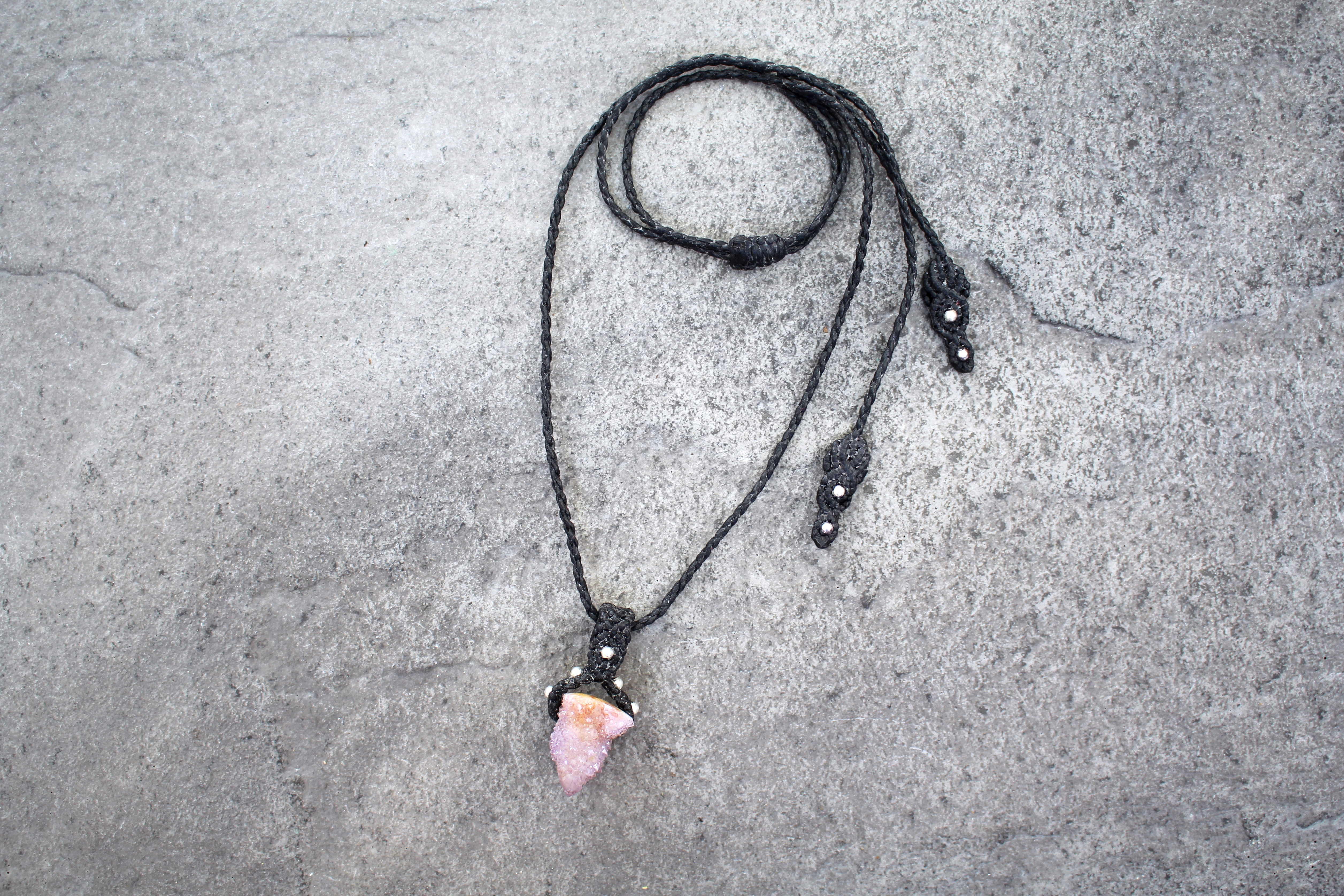 Macramé Spirit Quartz Necklace