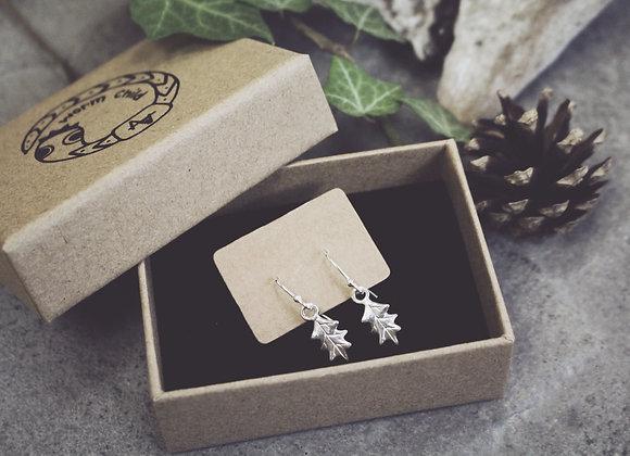 Mini Holly Leaf Earrings
