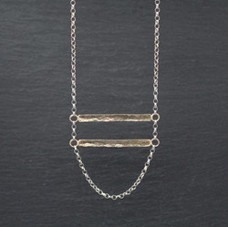 Double Bar (9ct Yellow and Silver)