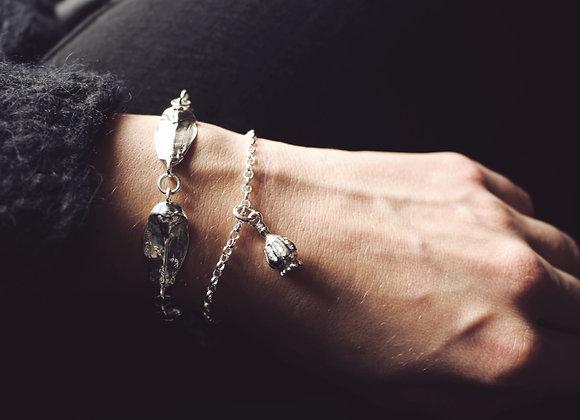Poppy Seed Pod Chain Bracelet