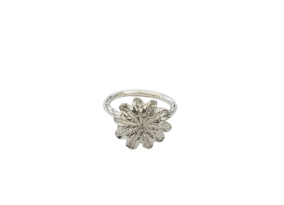 Poppy Crown Ring (Silver)