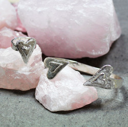 Double Heart Ring and Cuff