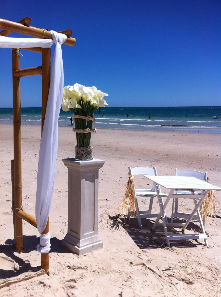 west beach wedding