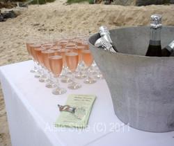 drinks on beach