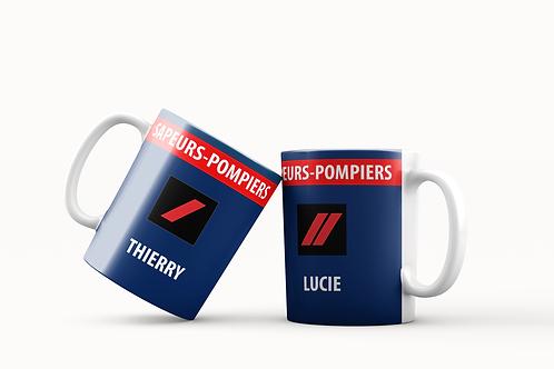 Mugs Grade Sapeurs-Pompiers personnalisables