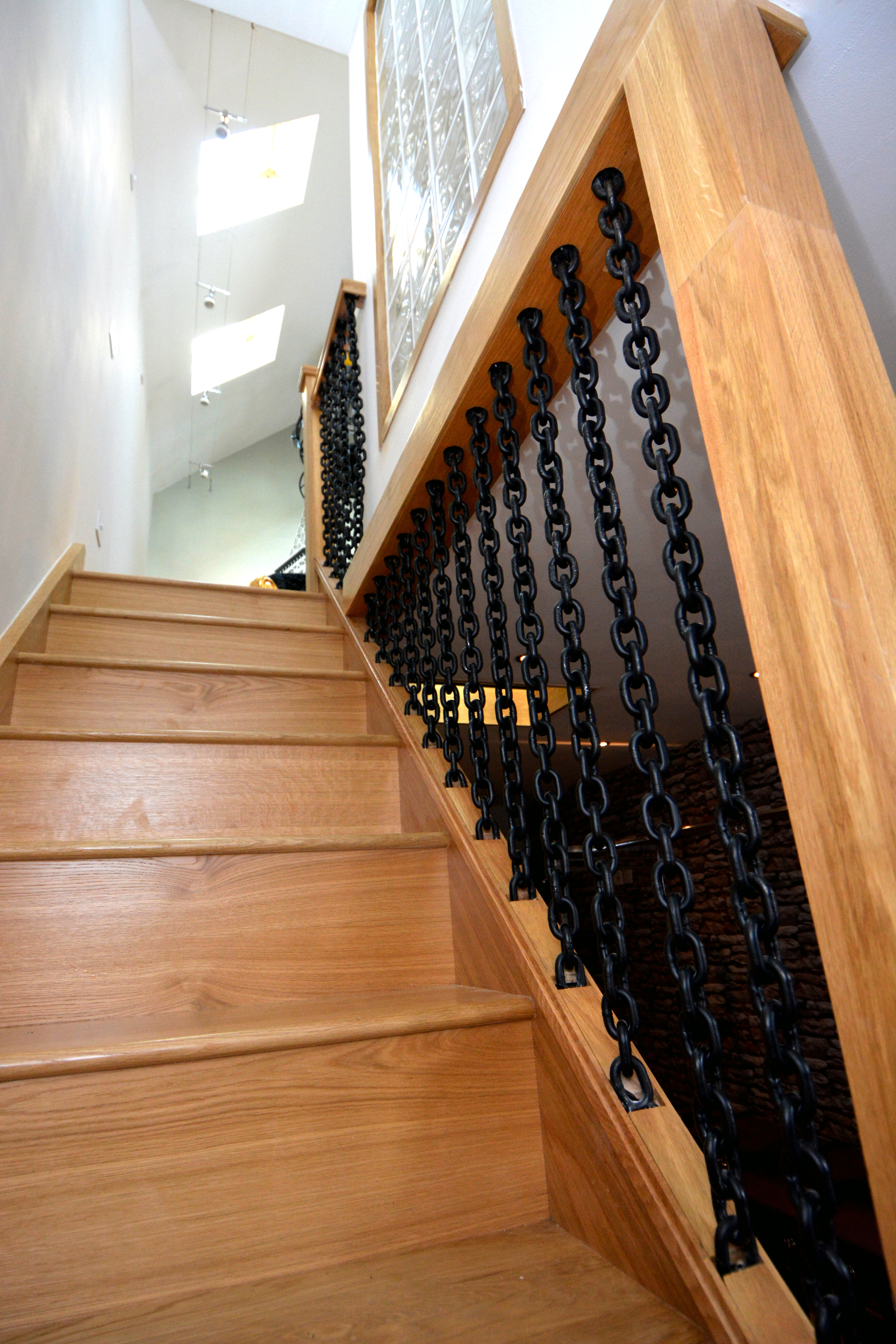 Oak and Chain Stairwell