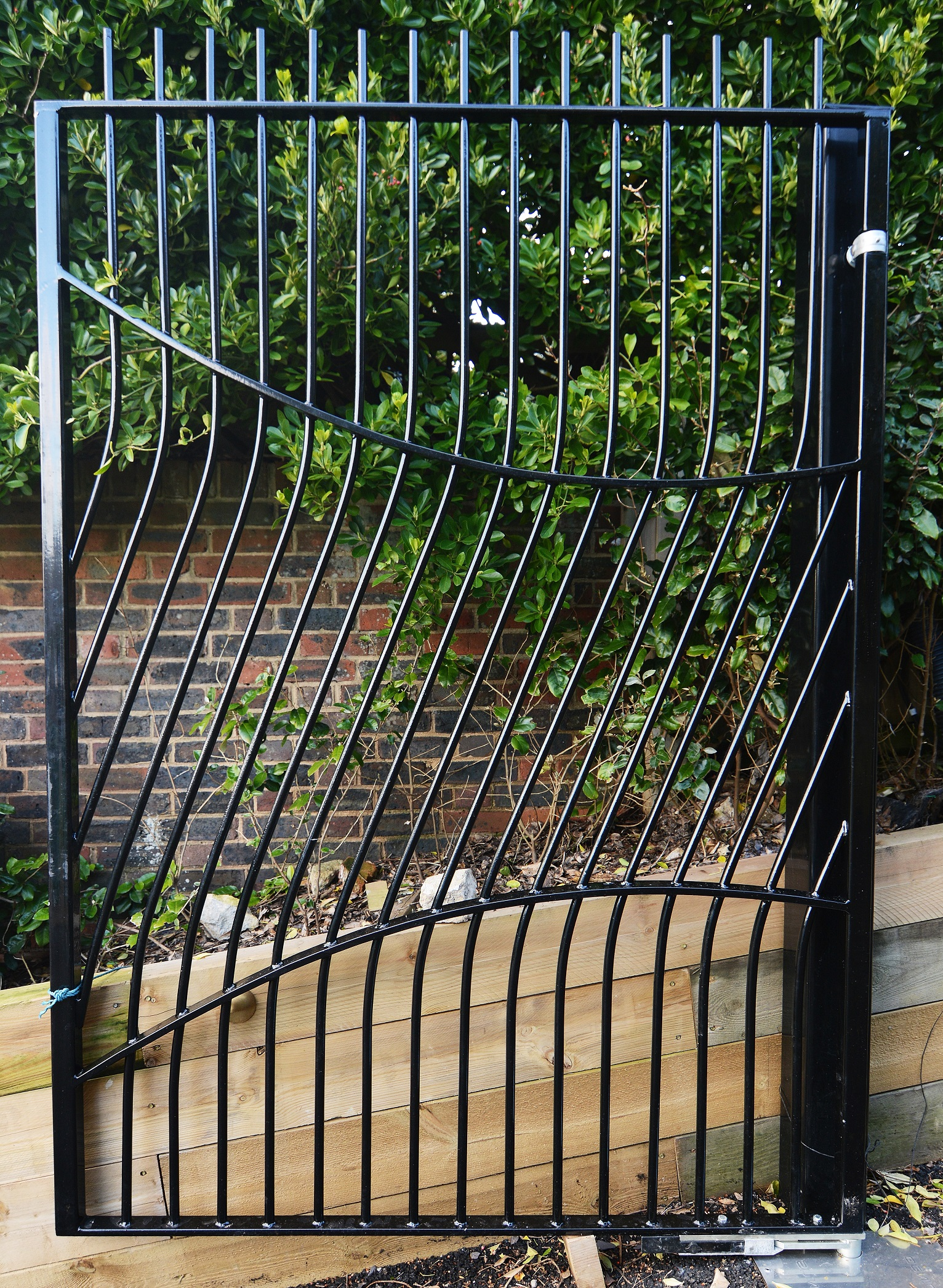 Front gates fabricated