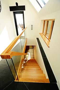 Stairs to lower ground