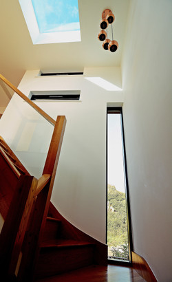 Stairwell in new build house