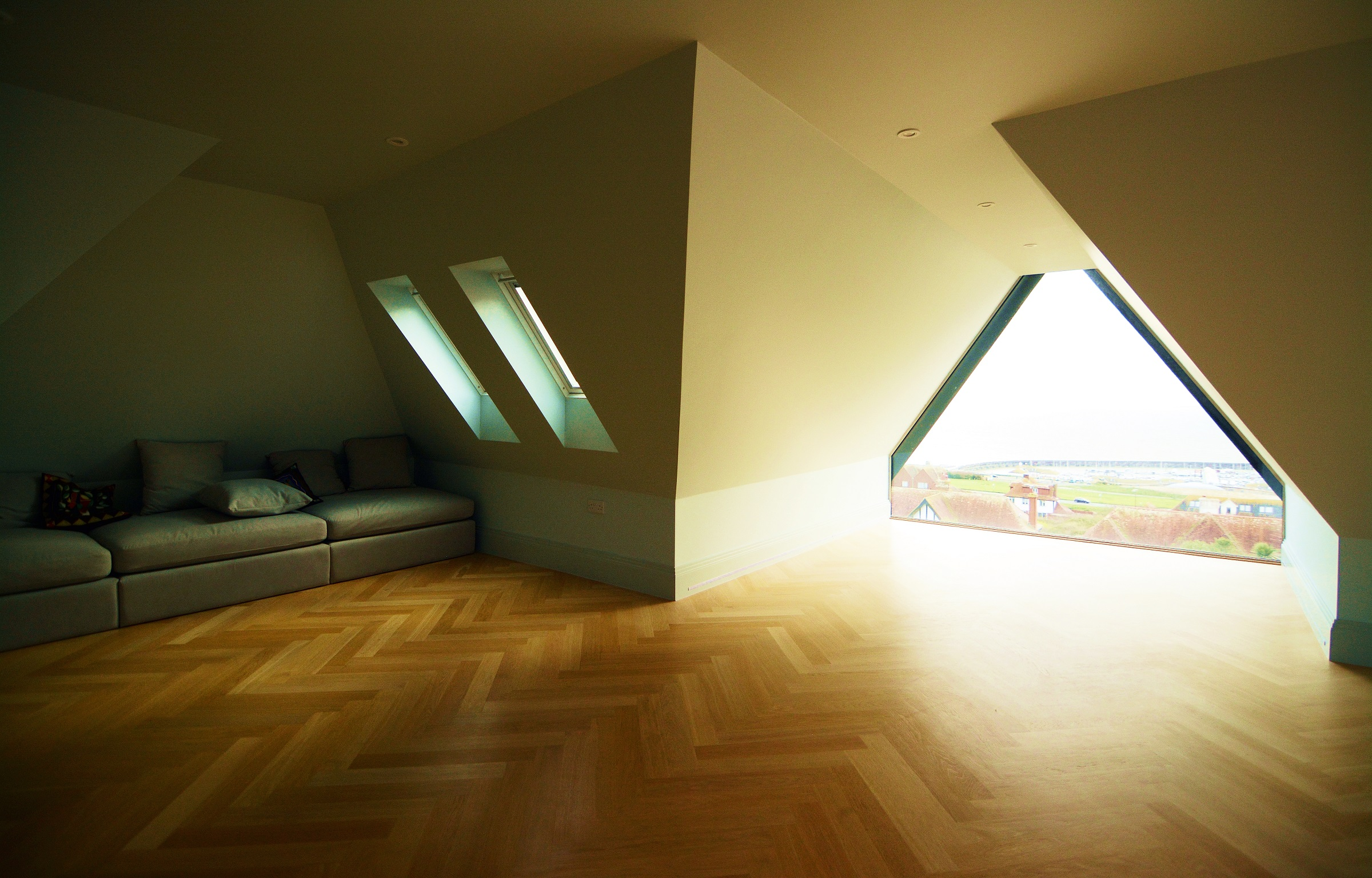 Cosy space and gable window