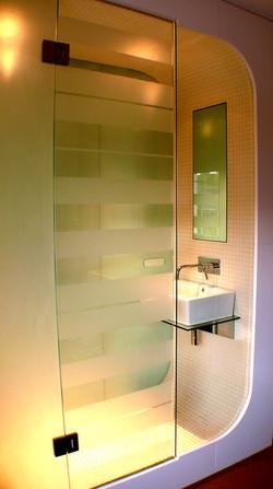 Listed building modern shower pod