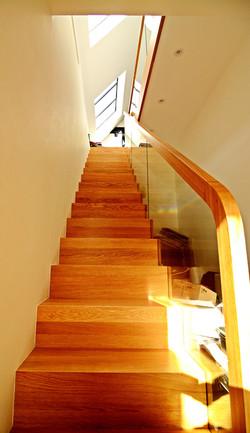 Bespoke solid oak stairs