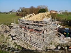 Truss design to support the aluminium roof