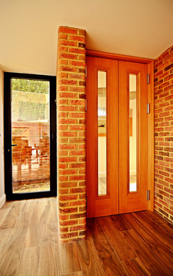 Oak and brick detailing and lightwell