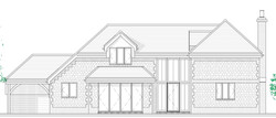 front elevation traditional house.