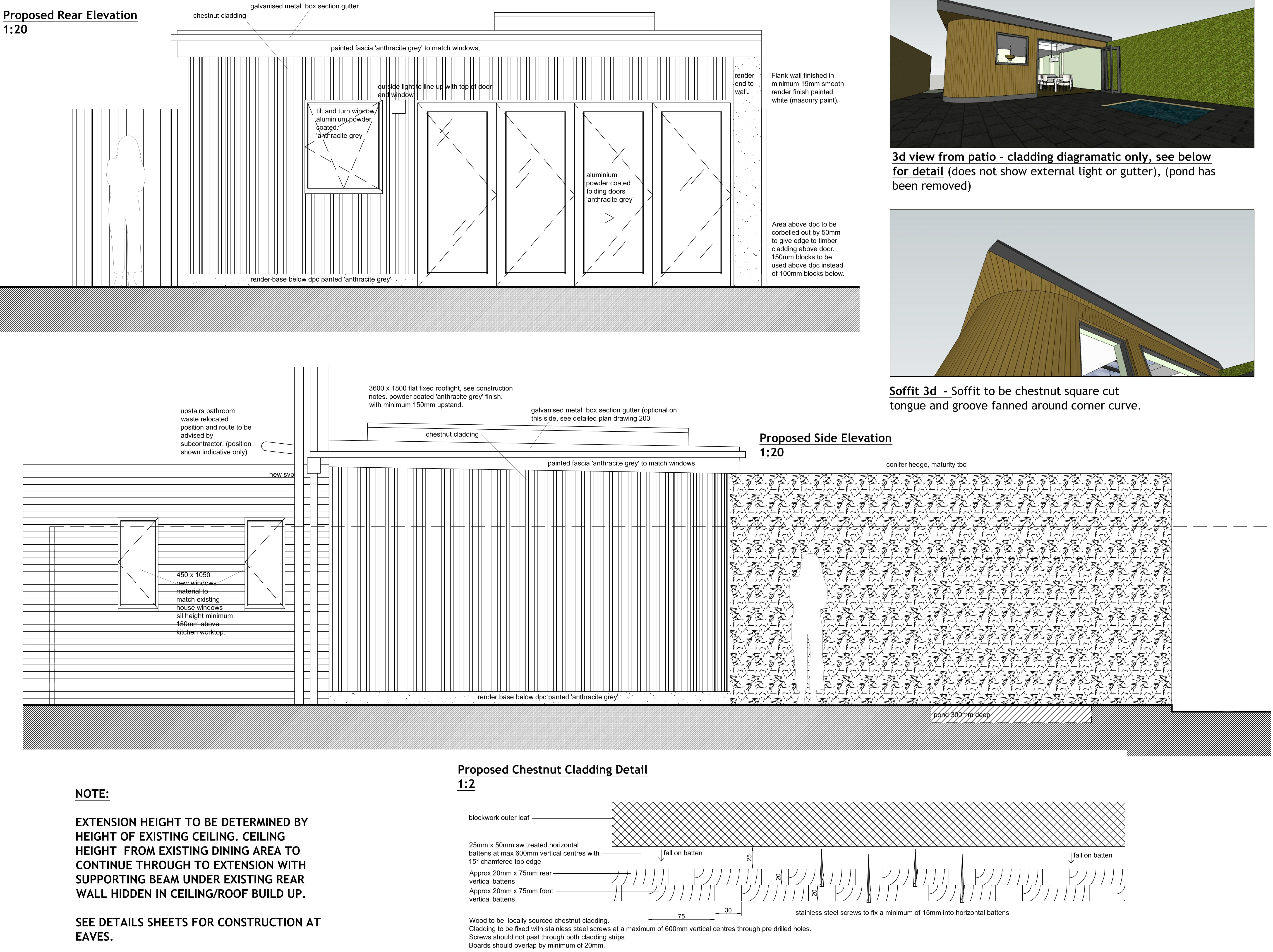 Single storey rear extension example