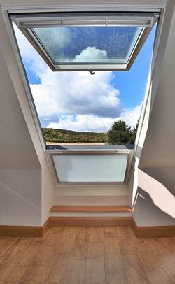 Saltdean House Balcony Rooflight Looking Over Fields