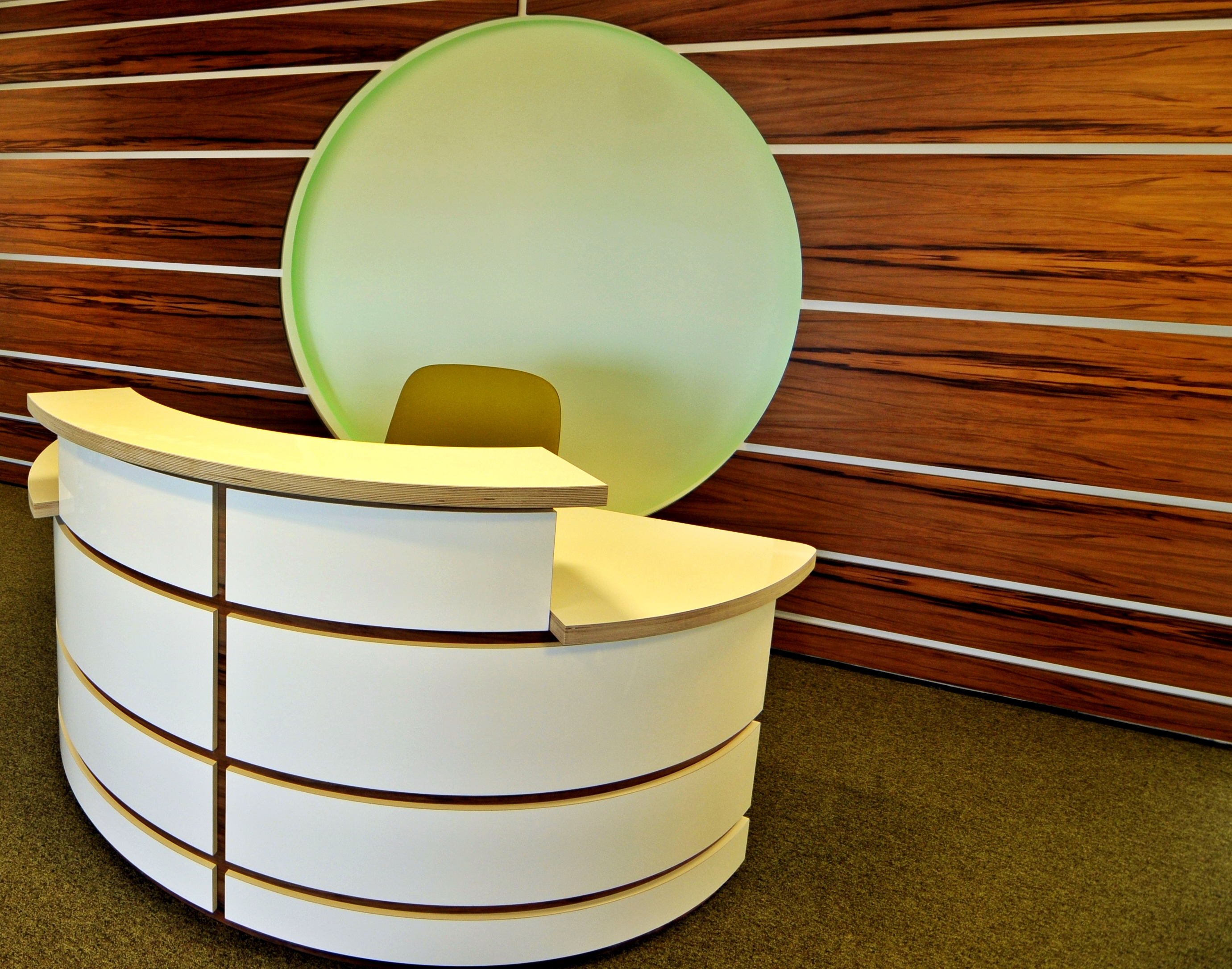 Office reception desk design