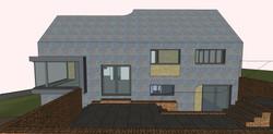 Side garden facade