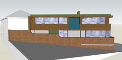 Corner site side elevation
