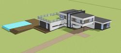New House Haywards Heath Aerial View