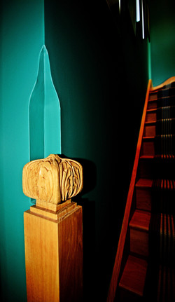 Newel post to the attic conversion