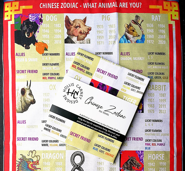 Chinese Zodiac Tea Towel