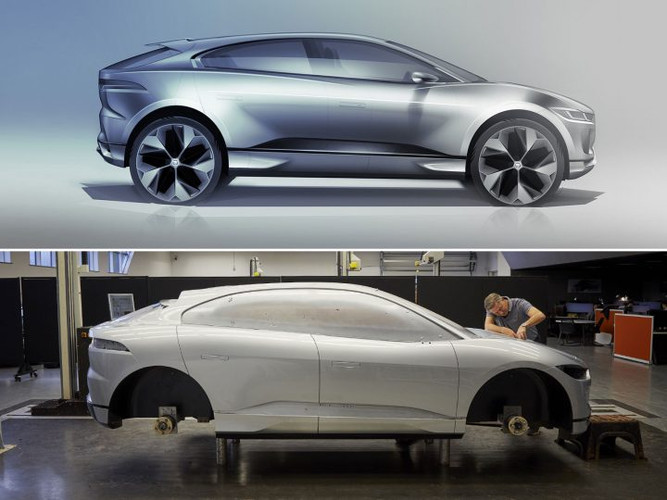 Jaguar-I-Pace-Sketch-and-Clay-Model-720x