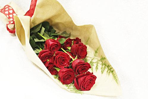 1 Dozen Wrapped Roses