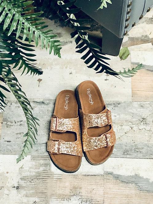 Refresh Rose Gold Slide on Sandal