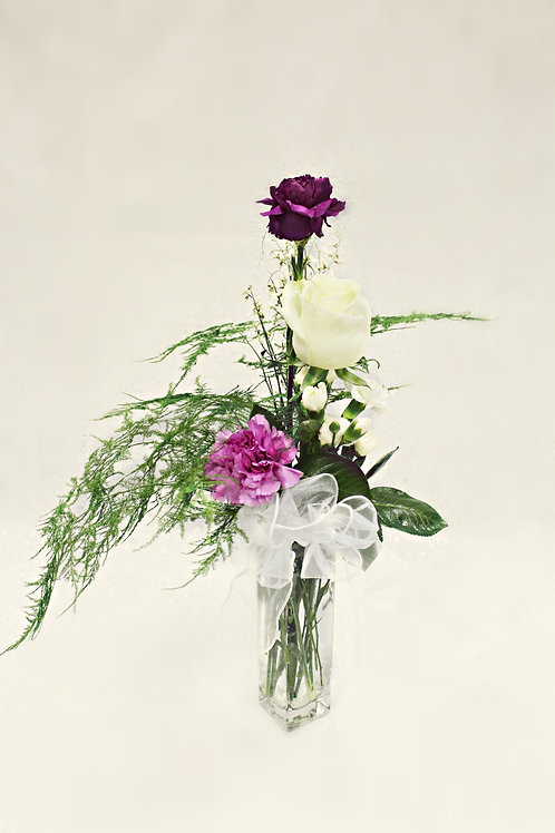 Mix Bouquet in Bud Vase. Styles Vary.