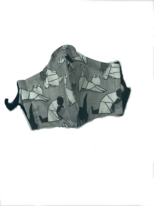 Origami Cats grey