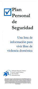 Personal Safety Plan Spanish FRONT IMAGE