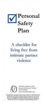Personal Safety Plan English FRONT IMAGE