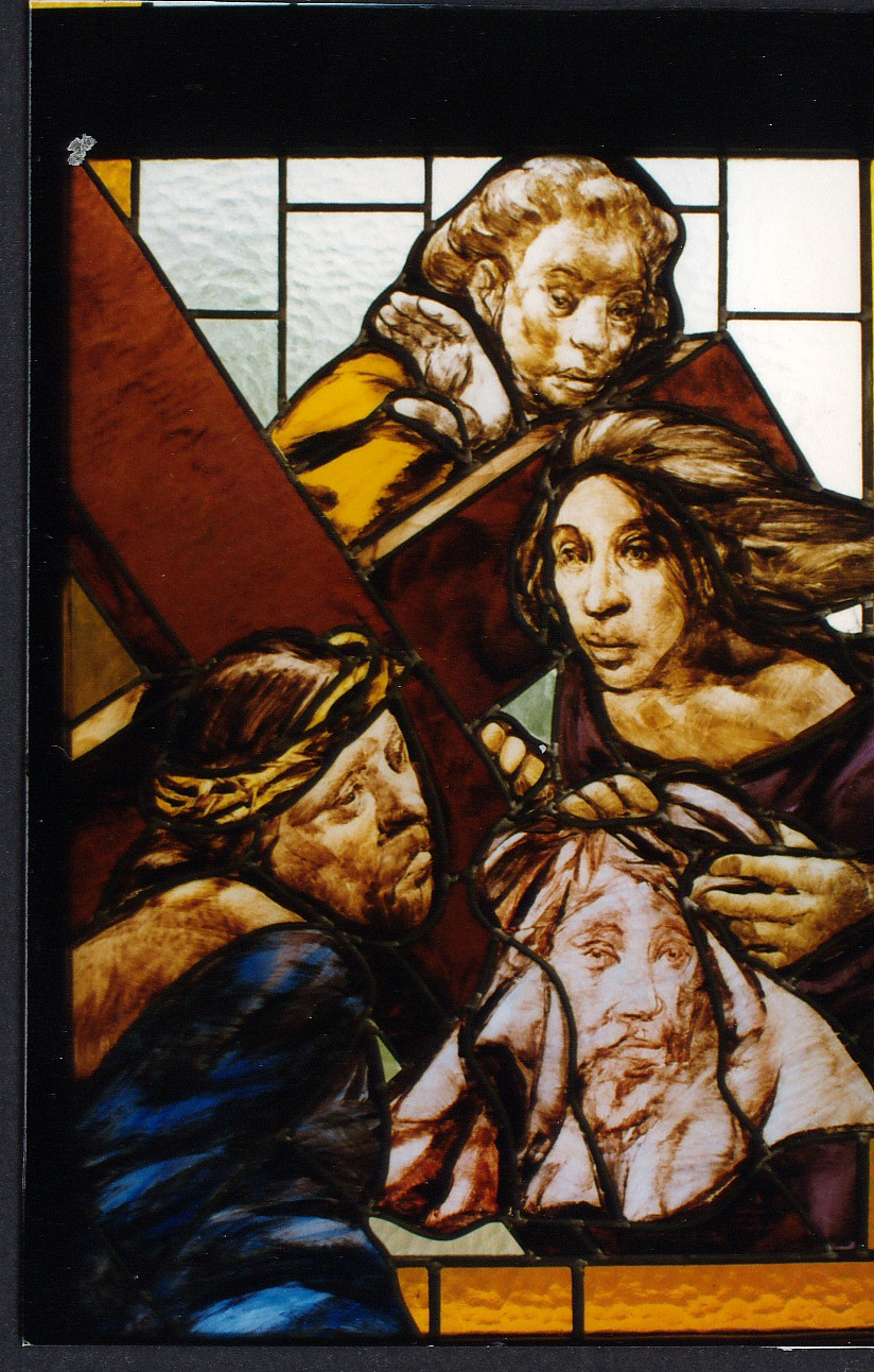 Passion of the Christ stained glass