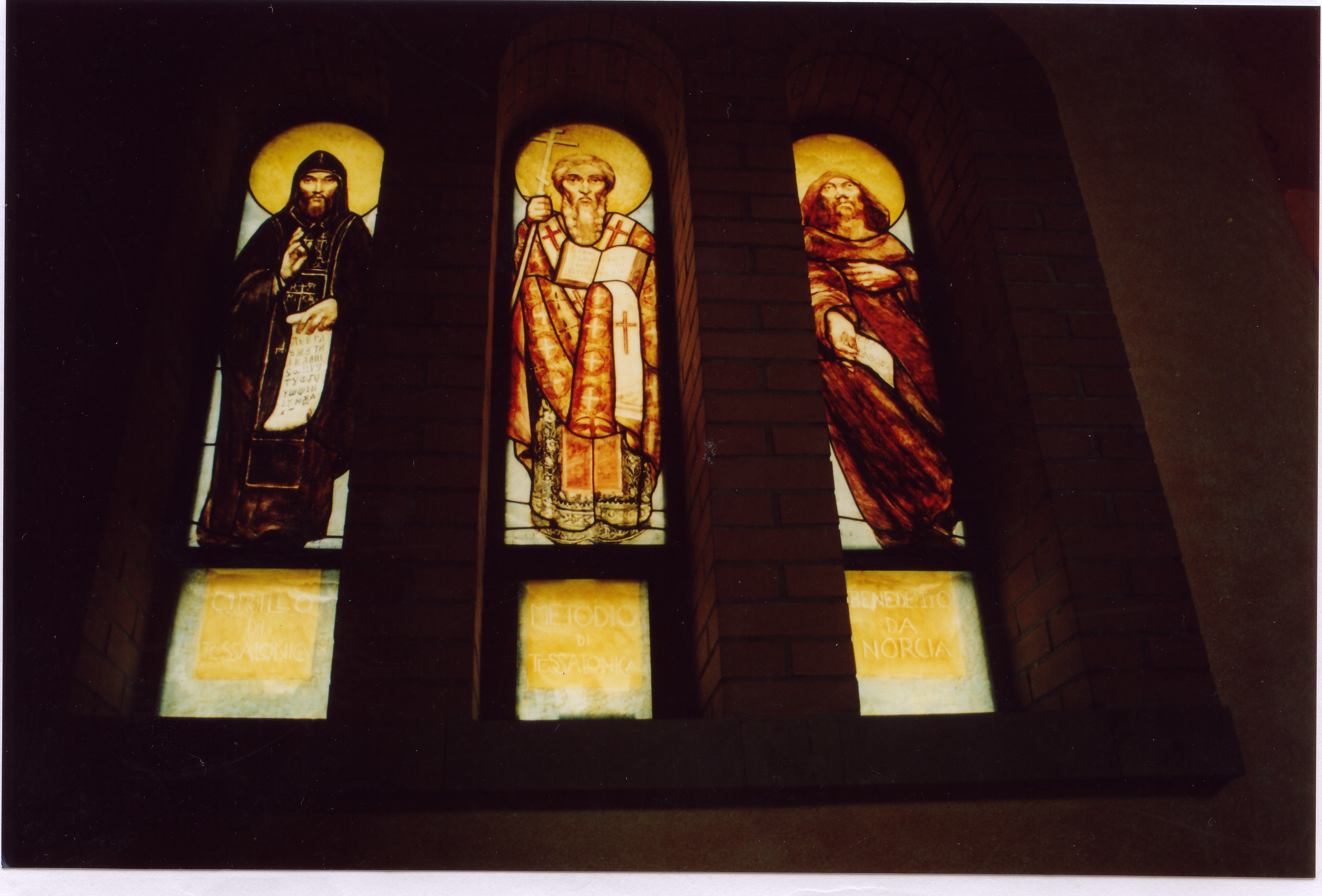 Auschwitz Church stained glasses