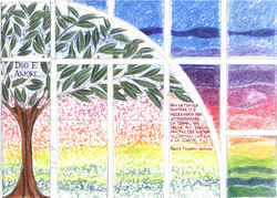 Tree stained glass sketch