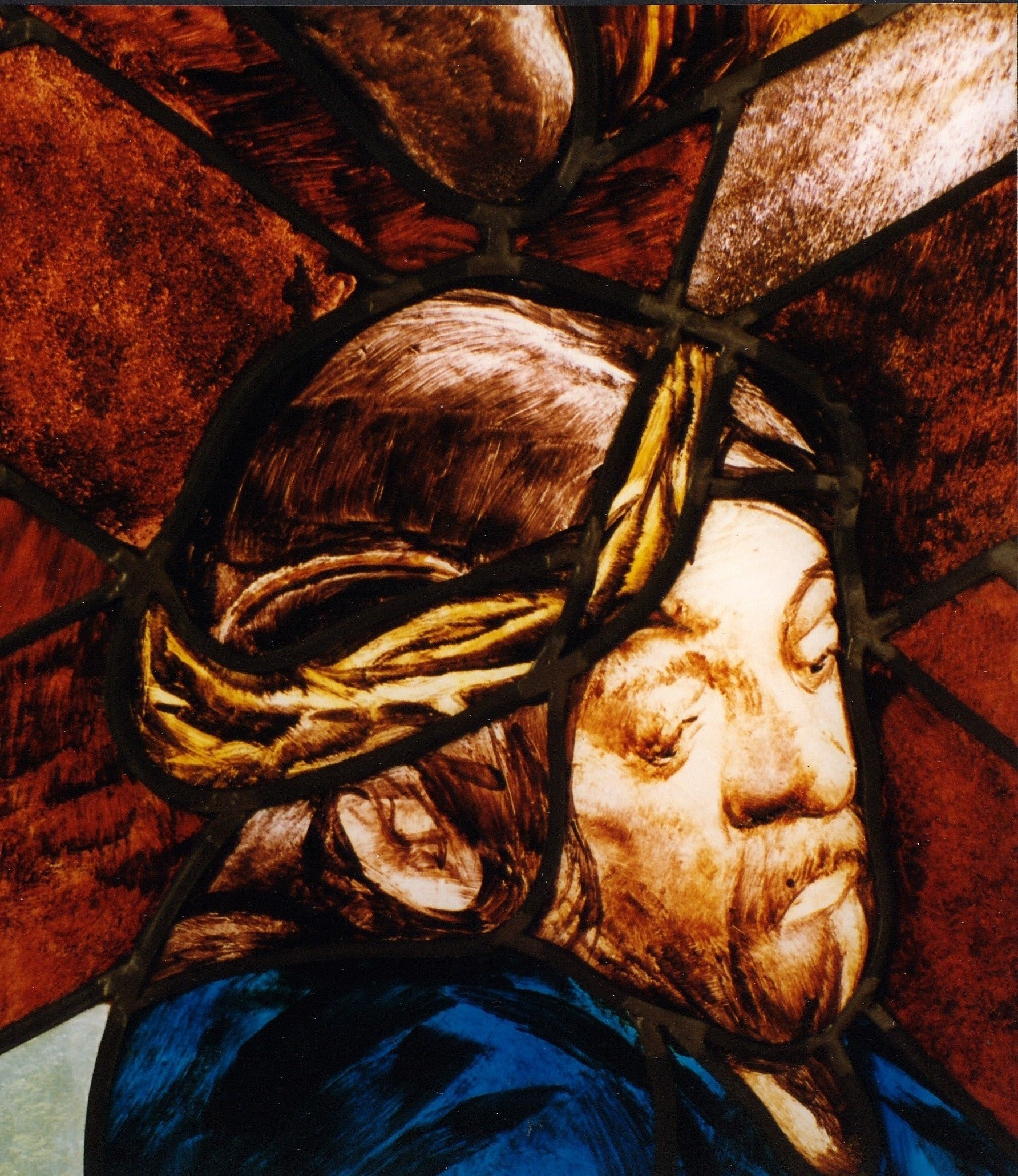 crown of thorns stained glass