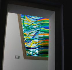 modern colored glass
