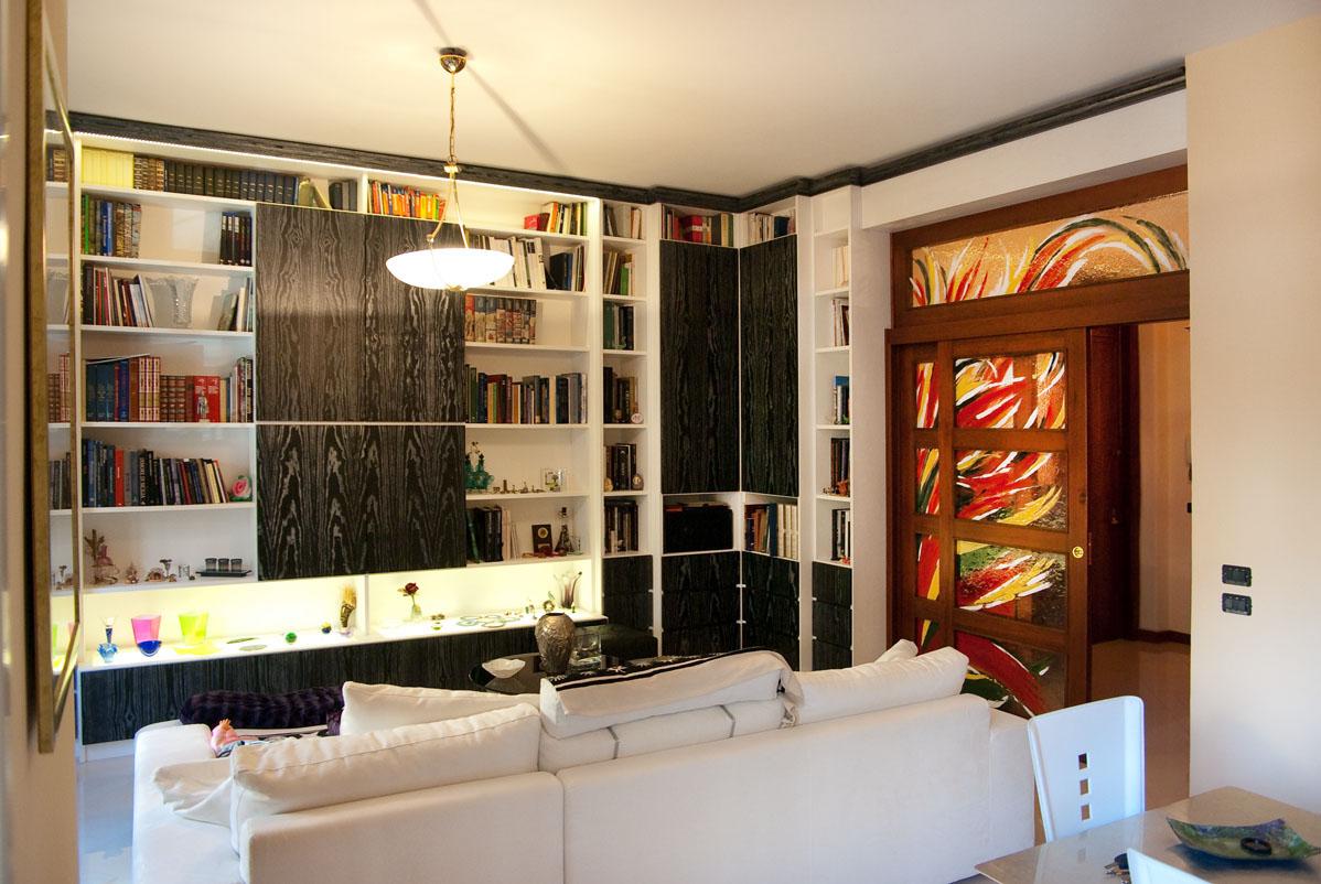 artistic glass door