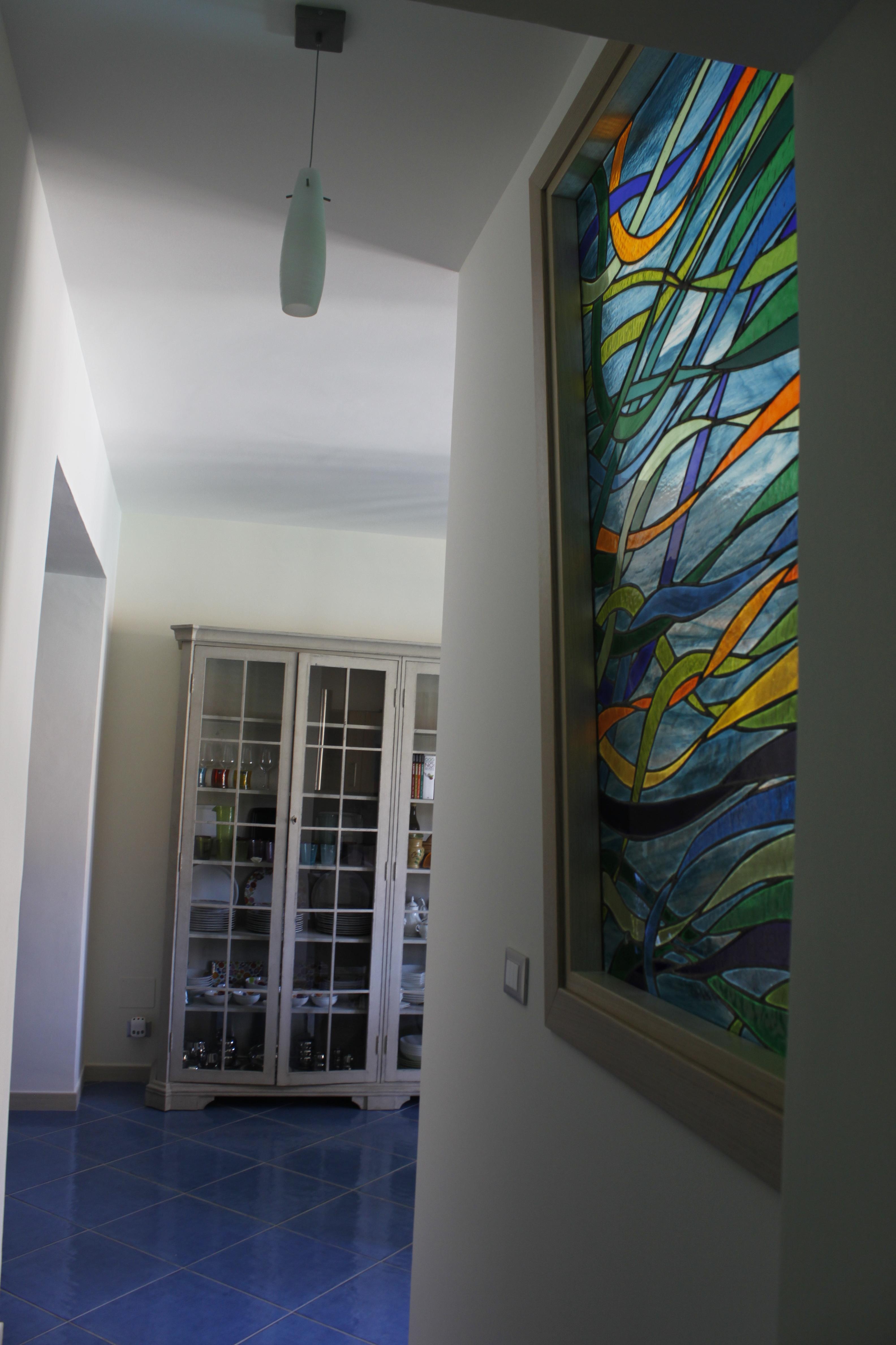 vetrata piombata casa moderna