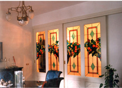 stained glass oranges