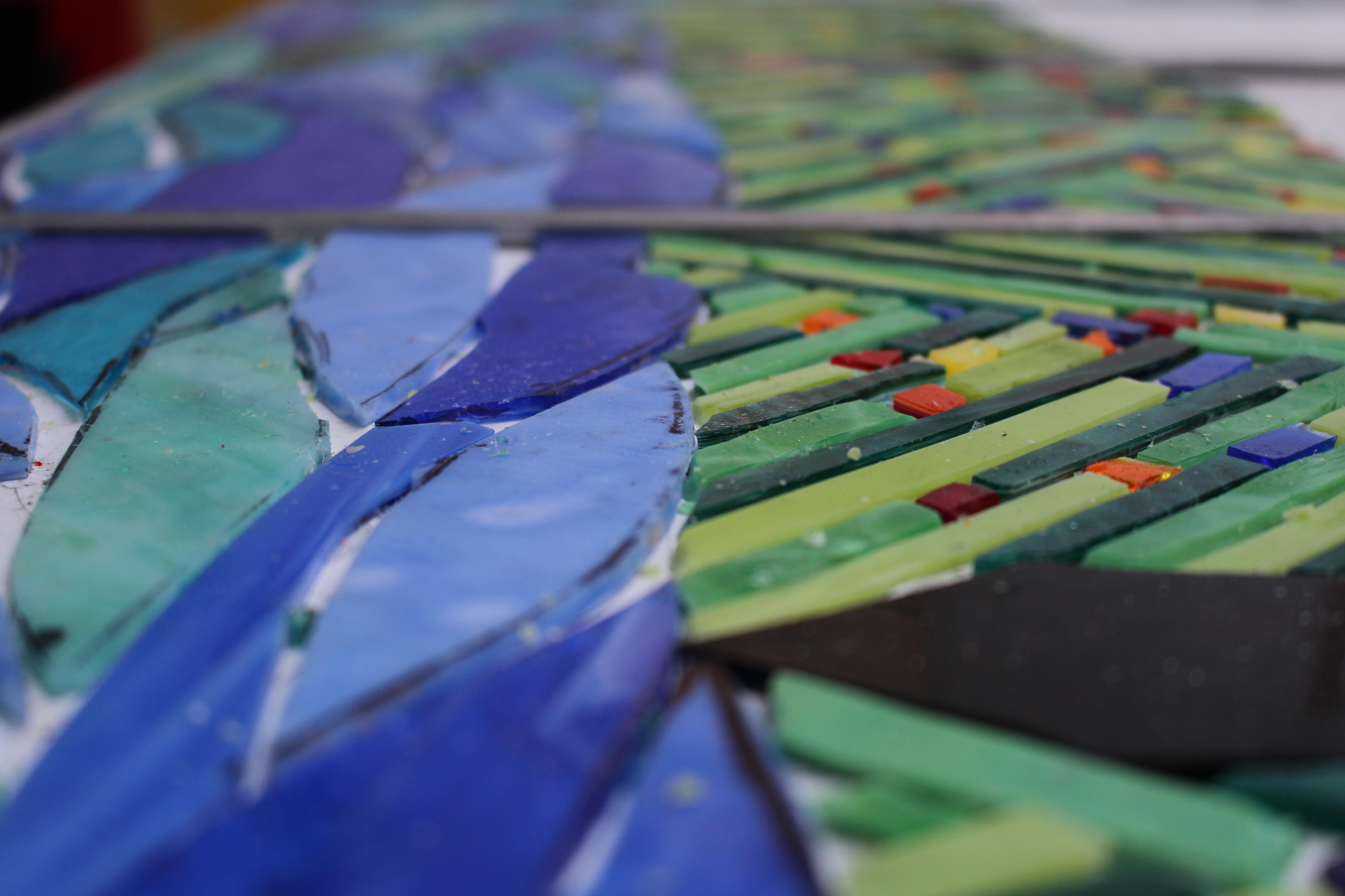 decorazione vetri colorati